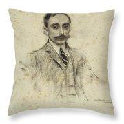 Portrait Of Joan Ventosa Throw Pillow