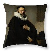 Portrait Of John Wtenbogaert Throw Pillow