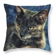 Portrait Of Kiara Throw Pillow
