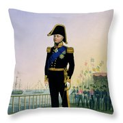 Portrait Of King William Iv Plate 14 Throw Pillow
