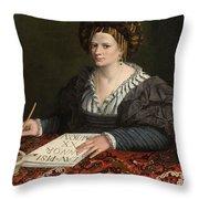 Portrait Of Laura Pisani Throw Pillow