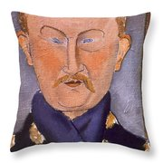 Portrait Of Leon Bakst Throw Pillow