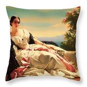 Portrait Of Leonilla Throw Pillow