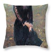 Portrait Of Madame Edouard Pailleron Throw Pillow