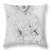 Portrait Of Madame Ingres Throw Pillow