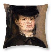 Portrait Of Madame Paul Darras Throw Pillow
