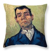 Portrait Of Man Throw Pillow