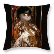 Portrait Of Maria Serra Pallavicino Throw Pillow