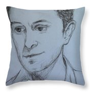 Portrait Of Mark Owen Throw Pillow