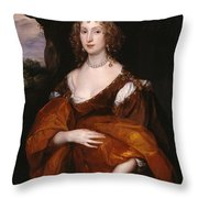 Portrait Of Mary Hill Throw Pillow