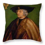 Portrait Of Maximilian I Throw Pillow