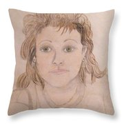 Portrait Of Michie Throw Pillow