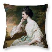 Portrait Of Miss Anne Dutton Throw Pillow