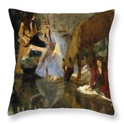 Portrait Of Mlle Fiocre In The Ballet La Source Throw Pillow