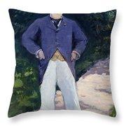 Portrait Of Monsieur Brun Throw Pillow