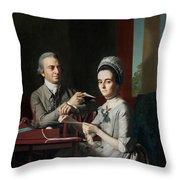 Portrait Of Mr And Mrs Thomas Mifflin Throw Pillow