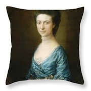 Portrait Of Mrs Clement Tudway Throw Pillow