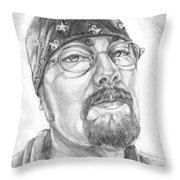 Portrait Of My Husband Throw Pillow