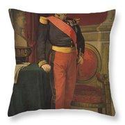 Portrait Of Napoleon IIi 1808-73 1862 Oil On Canvas Throw Pillow