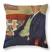 Portrait Of Peter Kapitza 1926 Throw Pillow