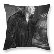 Portrait Of Richard Wagner Throw Pillow