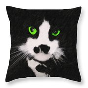 Portrait Of Riley Throw Pillow