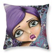 Portrait Of Robin Throw Pillow