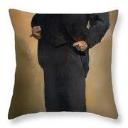 Portrait Of Samuel L Clemons - Mark Twain Throw Pillow