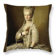 Portrait Of Sarah Cook Throw Pillow