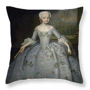 Portrait Of Sarah Eleanore Fairmore Throw Pillow