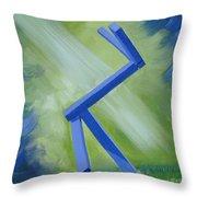 Portrait Of Shapiros Sculpture Honoring Jennifer Moulton Throw Pillow