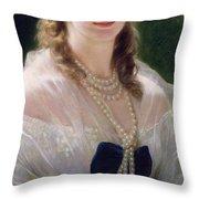 Portrait Of Sophie Troubetskoy  Throw Pillow