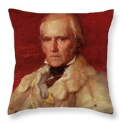 Portrait Of Stratford Canning 1786-1880, Viscount Stratford De Redcliffe 1856-7 Oil On Canvas Throw Pillow