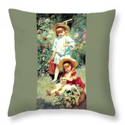 Portrait Of The Artists Children Throw Pillow