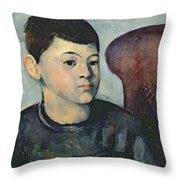 Portrait Of The Artists Son Throw Pillow