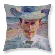 Portrait Of The Lawyer Throw Pillow