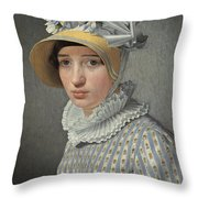 Portrait Of The Model Maddalena Or Anna Maria Uhden Throw Pillow