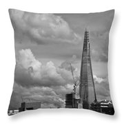 Portrait Of The Shard Black And White Version Throw Pillow