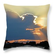 Portrait Of The Sun Throw Pillow