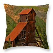Portrait Of The Yankee Girl Throw Pillow