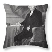 Portrait Of Thomas Jefferson Throw Pillow by Alonzo Chappel