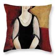 Portrait Of Thora Klinchlowstrom Throw Pillow