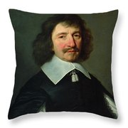 Portrait Of Vincent Voiture 1597-1648 C.1643-44 Oil On Canvas Throw Pillow