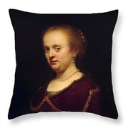Portrait Of Young Lady Throw Pillow
