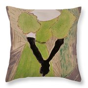 Portrait Of Yvette Guilbert Throw Pillow