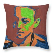 Portrait Plan Of Tennessee Williams  Throw Pillow