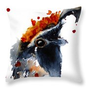 Portrait Posing Throw Pillow
