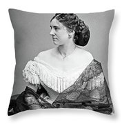 Portrait Woman, C1865 Throw Pillow