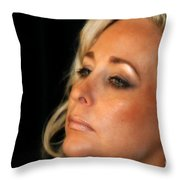Portrait Young Woman Throw Pillow