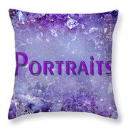 Portraits Throw Pillow by Donna Proctor